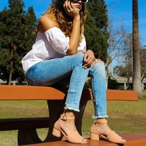 🆕//The Peggy Sue// Blush scalloped heel
